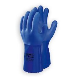 Guante pvc azul Showa 660