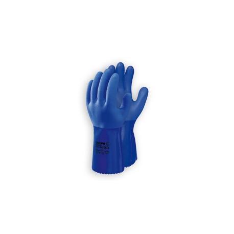 Guante pvc azul